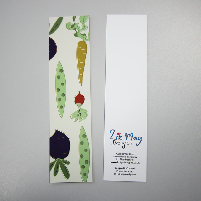 Sale: Vegetable pattern bookmark