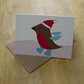 Red robin, a6 blank christmas greetings card