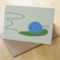 Sale: Snail trial greetings card
