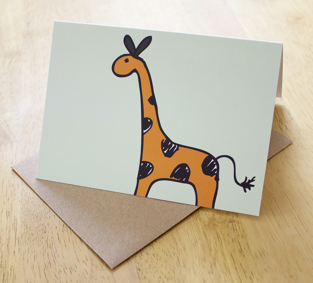 Sale: I am very tall, A6 blank greetings card