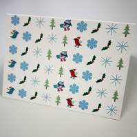 Christmas icons greetings card