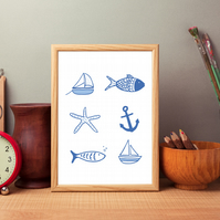 Nautical but nice a4 print