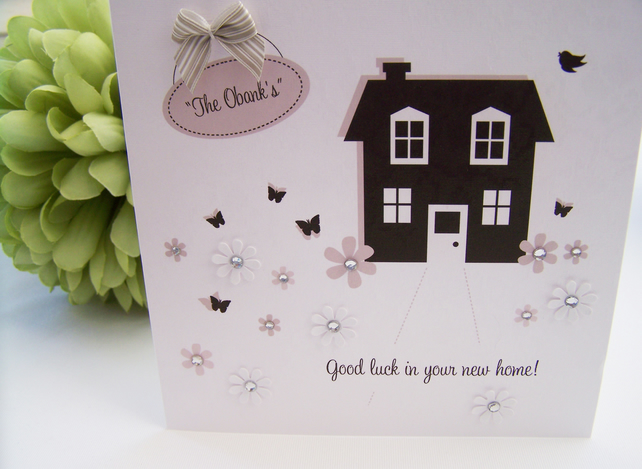 New Home Congratulations Hand Made Luxury Card Folksy