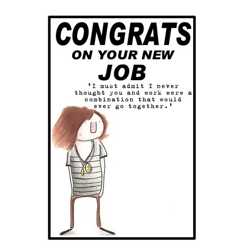 New Job Card Congrats On Your New Job With Funn Folksy