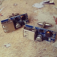 USB Circuit Board Cufflinks