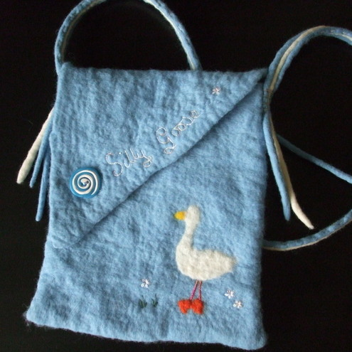 Silly Goose Felted Bag