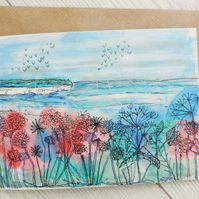 Greeting card - Cliff View