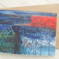 Greeting card - Sunset Sea View