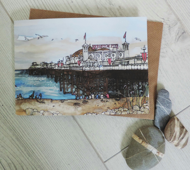 Greeting card - Palace Pier
