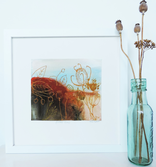 Original Textile Art 'Autumn Tones'