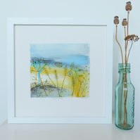 Original Textile Art 'Harvest Fields'