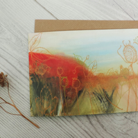 Artist Greeting card - Autumn Tones