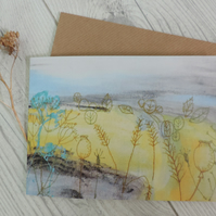 Artist Greeting card - Harvest Fields