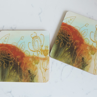 Printed Coaster - Autumn Tones