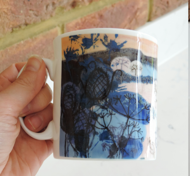 Textile Artist Printed China Mug-  Winter Light
