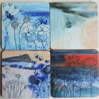 Artist Printed Coaster - Set of 4
