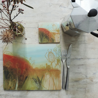 Set of 2 Artist Printed Placemats
