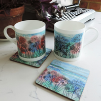 Bone China Art Print Mug - Cliff View