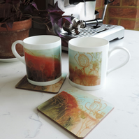 Bone China Art Print Mug - Autumn Tones
