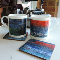 Bone China Art Print Mug - Sunset Sea View