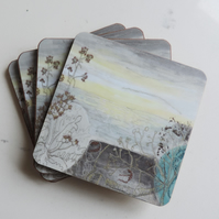 Artist Printed Coaster - Winter Sea Mist
