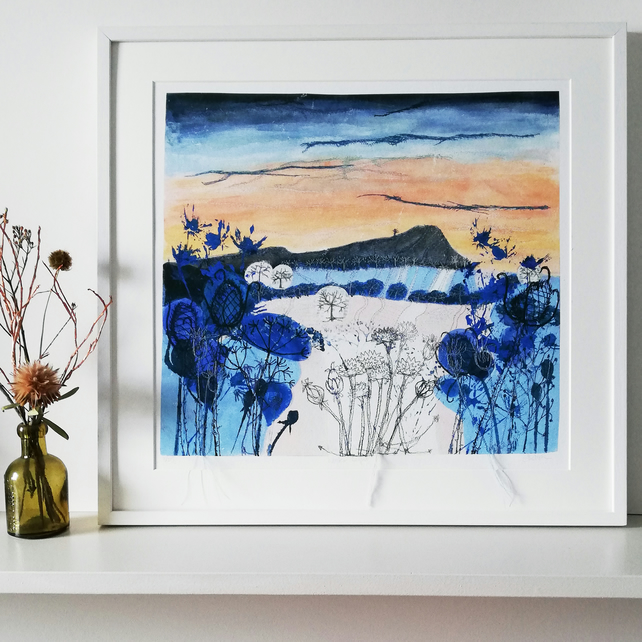 Embroidered Textile Print  'Winter Light'