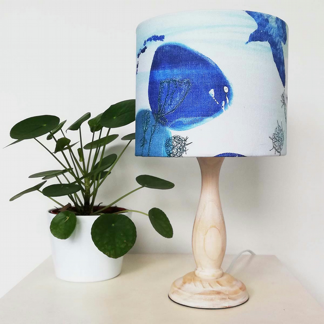 Lampshade in 'Summer Pebble' Fabric Design -  Made to Order