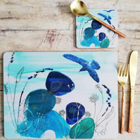 Placemats - Set of 4 - Summer Pebble Design