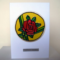 "Rose ""Birthday Wishes"" Card"