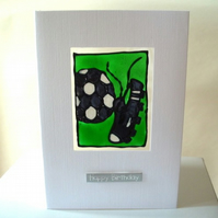 "Football ""Happy Birthday"" greetings card"