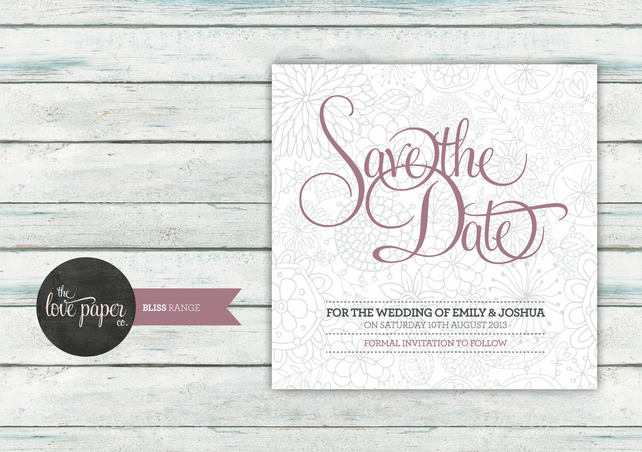 Save the Date Card - Digital Printable - Bliss Wedding Range