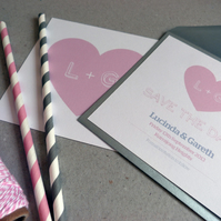 Save the Date Card - Heart Wedding Range - Wedding Invitation