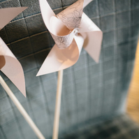 Wedding Favour - Party Pinwheel Favour - Set of 6 - Flowergirl Pinwheels