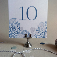 Wedding Table Number or Name - Set of 10 - Wedding Reception Table Decor