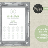 A2 Table Seating Plan Poster - Athena Wedding Range