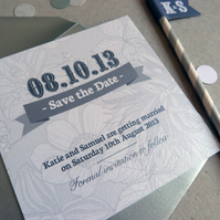 Save the Date Card - Floral Luxe Wedding Range
