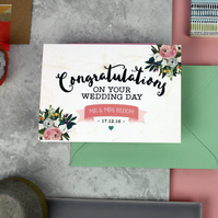 Wedding Day Card - Congratulations On Your Wedding Card - Wedding Gift - Card