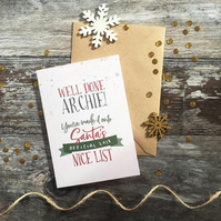 Nice List Christmas Card