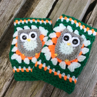 Child's Crocheted Owl Hand warmers