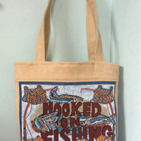 Market Tote Bag - Hooked on Fishing
