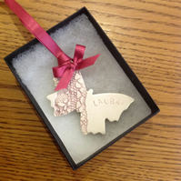 18th birthday ceramic butterfly reserved for Victoria