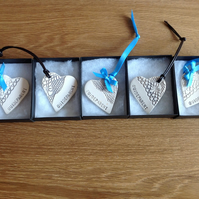 Ceramic hearts for baby naming ceremony reserved for Laura