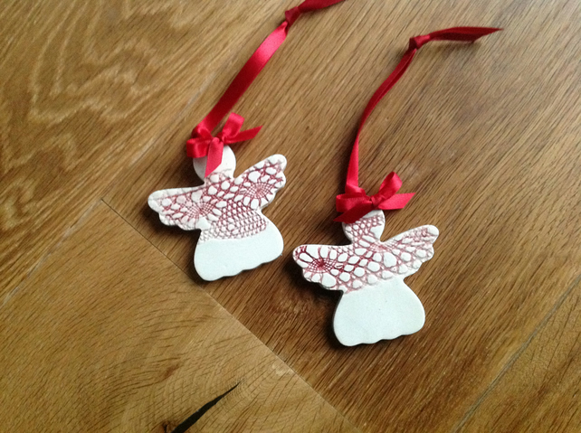 Ceramic Christmas Tree Decorations.Ceramic Christmas Tree Decorations Angel Shaped