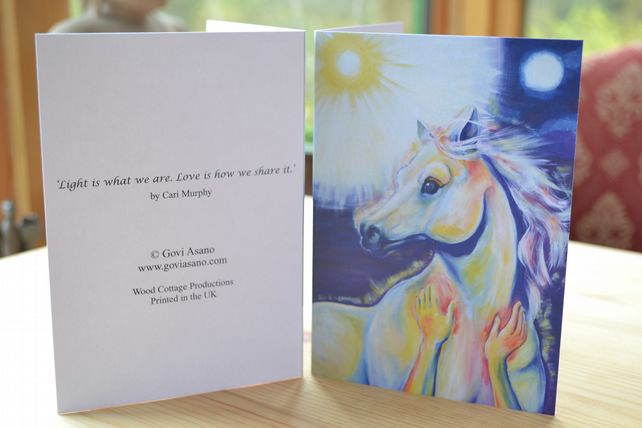 Healing Horse Greeting Card