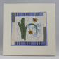 Bees and Bluebells textile art fabric picture