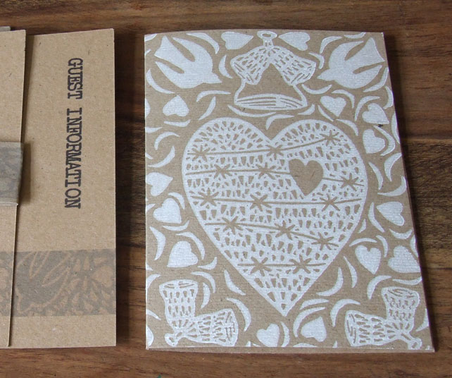 Hand-printed Wedding Invitation Suites, x50