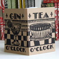 Chunky Eco Notebook - Tea and Gin O'Clock