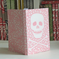 Chunky Eco Notebook - Pink Skull