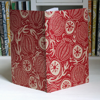 Journal, handprinted linocut Free UK shipping