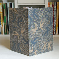 Birds linocut journal, free UK shipping
